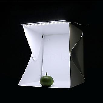 mini myk boks, led fotografering for rom folding studio lys