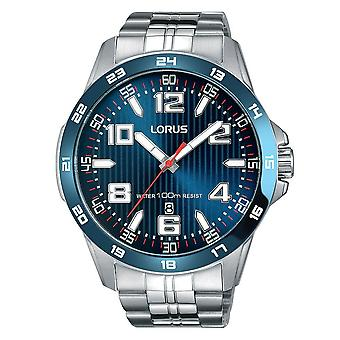 Lorus Mens Sports Bracelet Watch with Blue Dial (Model No. RH901GX9)