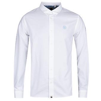 Pretty Green Classic Fit White Oxford Shirt