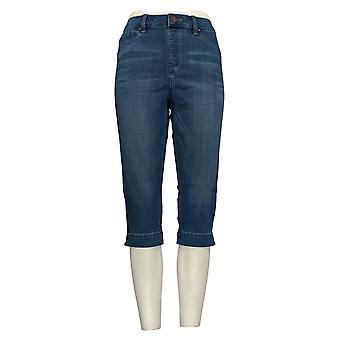 Laurie voelde vrouwen ' s jeans zijdeachtige denim pedaal Pusher pull-on blauw A290648