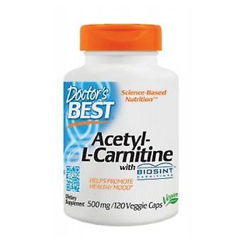 أفضل الأطباء أفضل أسيتيل L-كارنيتين، 500 ملغ، 120 قبعات