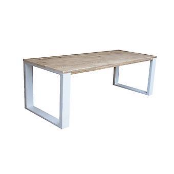 Wood4you - Esstisch New Orleans Gerüstholz 190Lx78Hx90D cm weiß