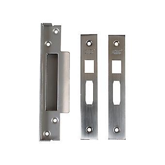 Unie UNNJ2200R05S Strongbolt Mortice Sash Lock Korting Kit 13mm Satin Chrome Box