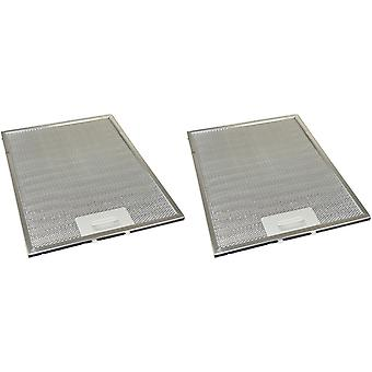 2 x univerzální digestoř kovový tukový filtr 247mm x 327mm