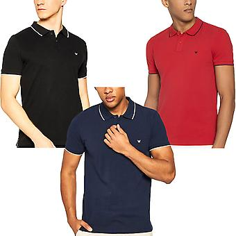 Wrangler Mens Pique Short Sleeve Casual Cotton T-Shirt Tee Top Polo Shirt