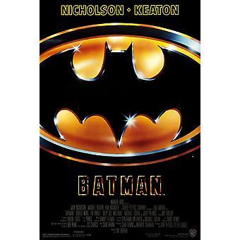 باتمان (1989) الأصلي ملصق الفيلم UV المغلفة / عالية لمعان النمط النهائي