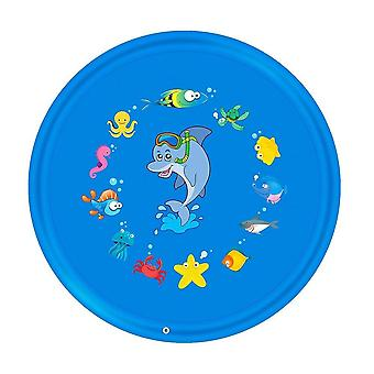 170 Cm Inflatable Spray Water Cushion Summer Kids Play Mat Lawn Pad Sprinkler
