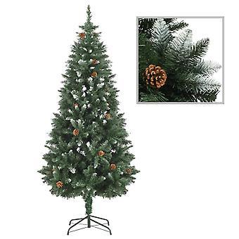 شجرة عيد الميلاد الاصطناعية الصنوبر مخاريط الأبيض بريق 180 سم
