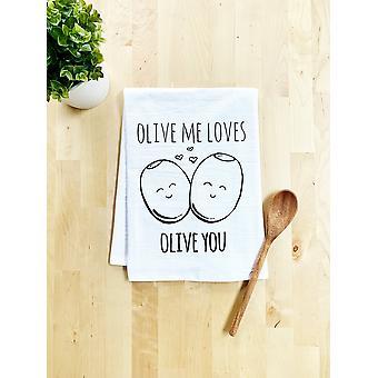 Olive Me Loves Olive You Dish Towel