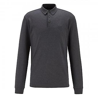 Hugo Boss Pado 11 Plain langærmet Jersey Polo Mørkegrå 061 50391826