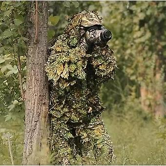 Vânătoare Ghillie Costum 3d Camo Bionic Leaf Jungle Woodland Hunting Outfit