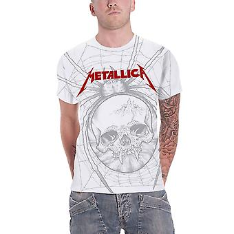Metallica T Shirt Spider Band Logo All over Print new Official Mens