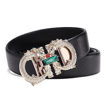 Leather Strap Waist Buckle Belt