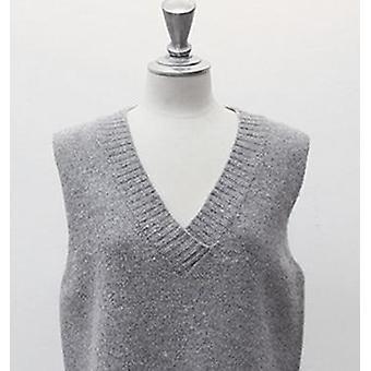 Rugod Vest New Autumn Women Vest Pretty Sleeveless O-neck Coniglio Capelli Lavorati a maglia