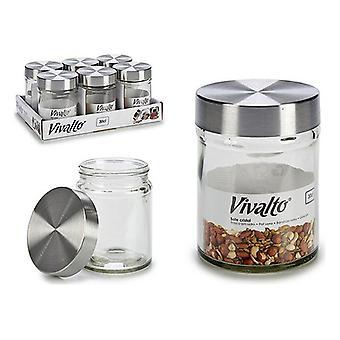 Läpinäkyvä lasipurkki (300 ml)