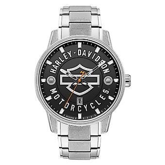Harley Davidson 76B182 Men's Open Bar And Shield Wristwatch