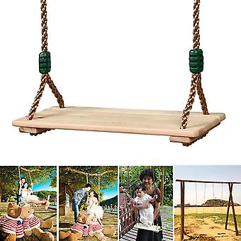 Wooden Garden Swing Seat For Adults And With Rope