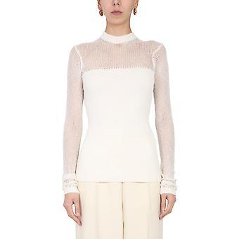 Jil Sander Jsps751061wsy42028105 Women's White Viscose Sweater