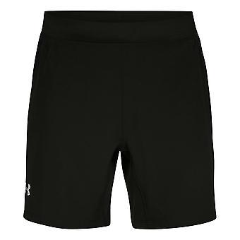 "Under Armour Mens Speedpocket 7"" Shorts Running Gym Black Pants 1305210 001"
