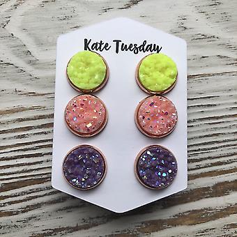 Triple Set Of Earrings