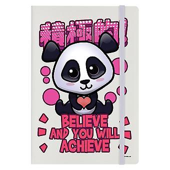 Handa Panda Believe And You Will Achieve Notepad