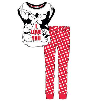 Disney Womens Minnie Mouse Love Short-Sleeved Pyjamas