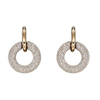 Elements Gold 9ct Donut Diamond Yellow Gold Earrings GE2360