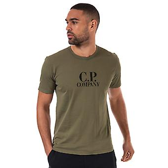 Men's C.P. Company Large Logo T-Shirt in Green