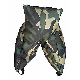 Grappler camera bean bag. pre-filled. wildlife photography. army pattern camouflage polyester.