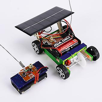 Hobbylane Wooden Diy Solar Powered Rc Car Puzzle Assembly Science Vehicle Set
