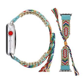 Wolle Armband mit Edelstahl Schnalle für Apple Watch Serie 3 & 2 & 1 42mm blau