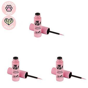Barry M 3 x Barry M Hi Vis Neon Liquid Eyeliner - Ontketend