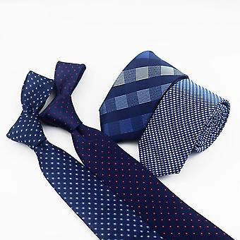 Miehet Klassinen Polyester Kudottu Plaid Dots Party Necktie