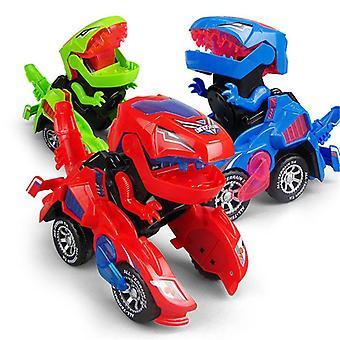 Led Car Automatic Dino Dinosaur Transformer Toy Car