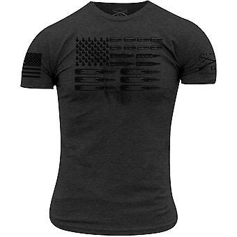 Grunt tyyli ammuksia lippu t-paita-Heather hiili