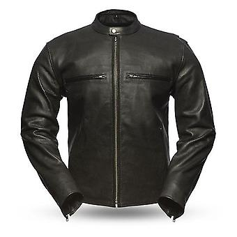 Mkl - rodeo men's motorcycle perforated leather jacket