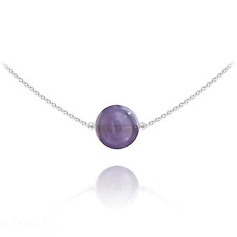 Silver choker with amethyst stone