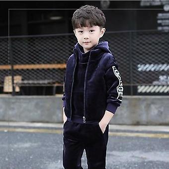 Brand Warm Thicken Fleece 3kpl asettaa lasten vaatteet rento puku