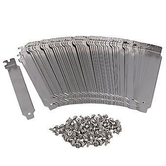 Silver Stainless Steel Dust Proof PCI Slot Ruffled Cover Plate Set of 100