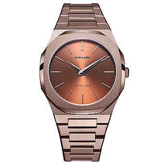 D1 Milano D1-utbj10 Ultra Thin Brown & Chocolate Pvd Stainless Steel Mens Watch