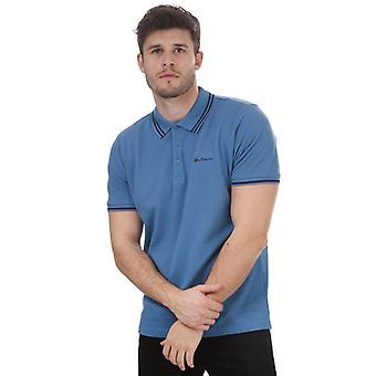 Mænd's Ben Sherman Twin Tippet Polo Shirt i blå