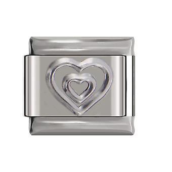 Original Daisy Fashion Romantic Heart Charm Links Fit Bracelet