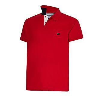 Tommy Hilfiger 1985 Kontrast Placket Polo Shirt Primär Röd