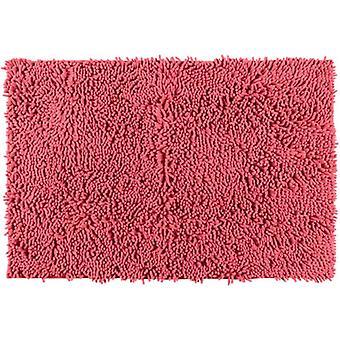 badvorleger Chenille80 x 50 cm Polyester rot