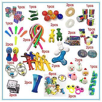 50pcs Fidget Pop it Toys Set-pakke til børn og voksne