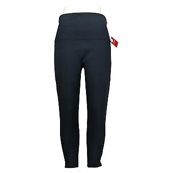 Spanx Ankle Length Ponte Hem Slit Leggings Petite Blue A369379