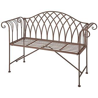 Esschert Design Garden Bench Metal Victorian Style MF009