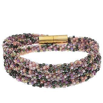 Kralen Kumihimo Wrap Armband Kit-Rose Tone - Exclusieve Beadaholique Sieraden Kit