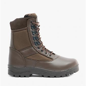Grafters G-force Unisex Non-safety Combat Boots Brown