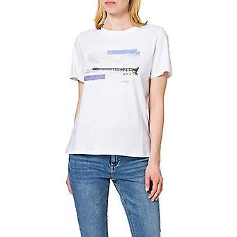 edc by Esprit 011CC1K311 T-Shirt, 100/white, M Woman